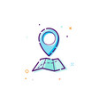 concept gps icon thin line flat design element vector image vector image