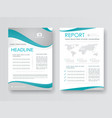 Cover design annual report vector image