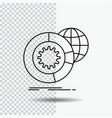 data big data analysis globe services line icon vector image