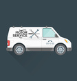 emergency motor service car vector image vector image