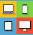 flat design icons of gadgets and devices vector image