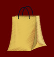 flat shading style icon paper bag vector image