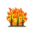 Forest Fire Natural Force Sticker vector image vector image