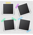 frames of photo with shadow pin on sticky tape vector image