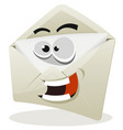 funny email icon character vector image vector image