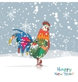 Funny Rooster symbol of 2017 new year vector image vector image