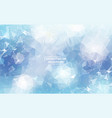 geometric blue white polygonal background vector image vector image