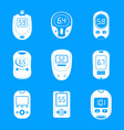 glucose meter sugar test icons set simple style vector image vector image