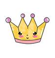 grated kawaii cute metal crown accessory vector image