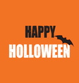 Grunge Happy Halloween Text With Pumpkin Color vector image vector image