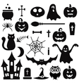 Halloween icons isolated on white vector image vector image