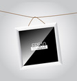 hanging frame vector image vector image
