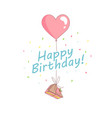 happy birthday party greeting card invitation vector image vector image