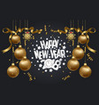 happy new year 2018 background with christmas vector image vector image