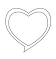 heart speech bubble icon vector image