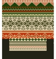 Knitted country background with snowflakes vector image vector image
