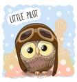 Little Owl Pilot vector image vector image