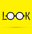Look vector image vector image