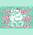 mothers day with bear family vector image