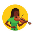 musician playing violin girl violinist is vector image