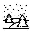 night forest icon outline vector image vector image