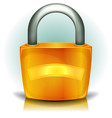 padlock security icon vector image vector image