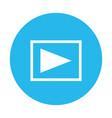 play video symbol vector image