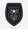 police badge simple monochrome sign vector image