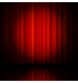 Red curtain from the theatre vector image