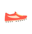 red spiked football shoe cartoon vector image vector image