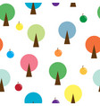 round tree seamless pattern vector image vector image