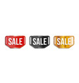 sale banners on transparent background vector image vector image