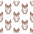 seamless pattern a wise old owl vector image vector image