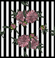 seamless pattern with peony vector image vector image