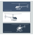 set helicopter silhouettes vector image