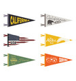 set of adventure pennants pennant travel flags vector image vector image