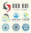 Set of fish logo for your business vector image