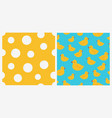 set two seamless patterns with rubber ducks vector image