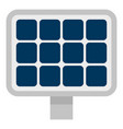 solar panel icon flat style vector image vector image
