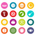 sport balls icons many colors set vector image vector image