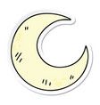 sticker a quirky hand drawn cartoon crescent vector image vector image