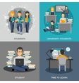 Student Flat Set vector image vector image