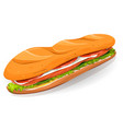 swedish sandwich with salmon fish fresh cheese vector image