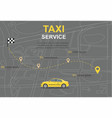taxi service concept transporation vector image vector image