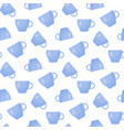 tea cup flat seamless pattern vector image
