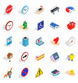 town icons set isometric style vector image vector image