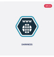 two color darkness icon from web concept isolated vector image vector image