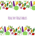 vegetable hand drawn colorful background isolated vector image