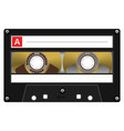 vintage audio cassette tape design vector image
