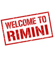 welcome to rimini stamp vector image vector image